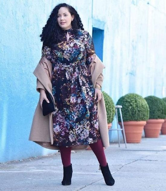 Модные платья для полных женщин 50 лет