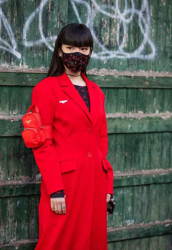 Медицинские маски в модных образах
