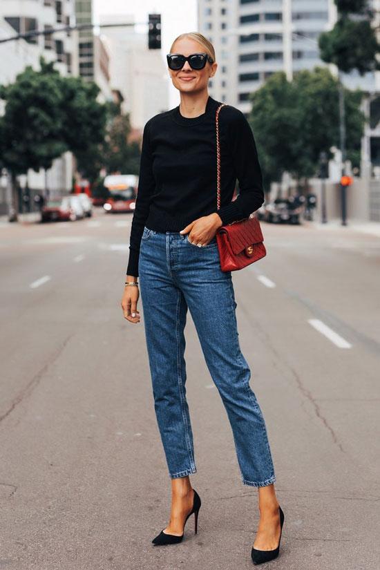 Модные черные туфли для женщин