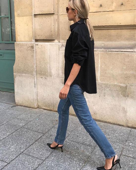 Модные черные туфли 2020