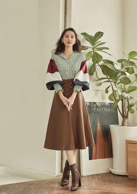 Миди юбка-трапеция на весну 2020