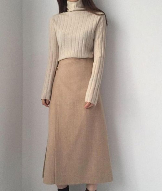 С чем носить юбку-трапецию миди