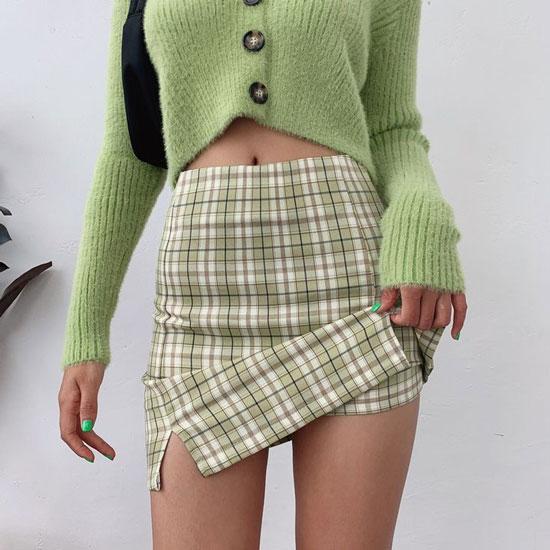 Юбка-шорты в клетку для женщин