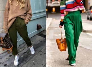 С чем носить зеленые брюки: 13 модных образов, которые актуальны в 2020 году