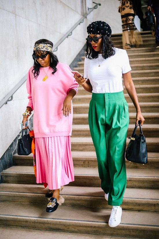С чем сочетать зеленые брюки в 2020 году