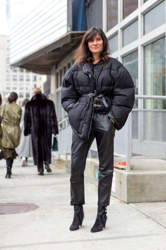С чем женщинам носить оверсайз-куртку