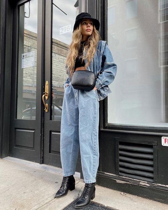 С чем носить джинсовую куртку весной 2020