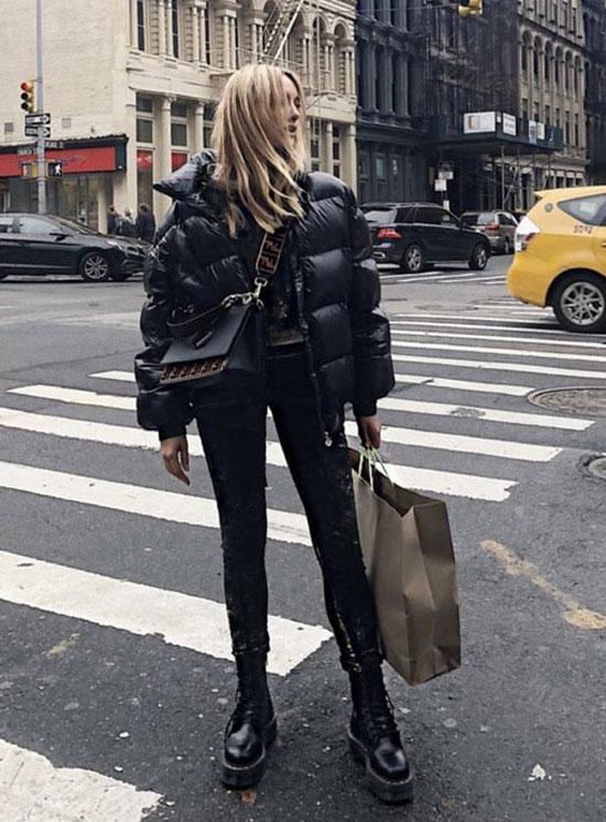 С чем носить черную куртку