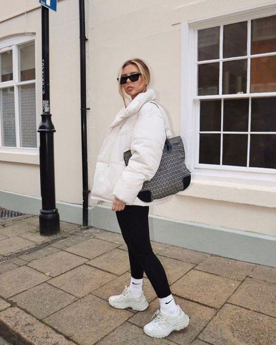 С чем носить женскую белую куртку