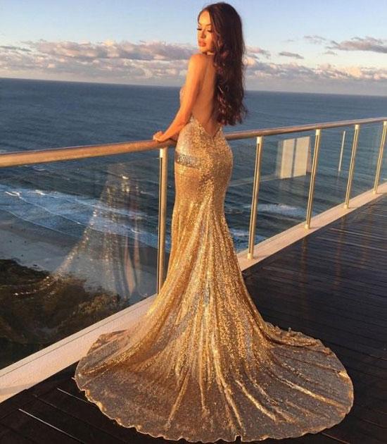 Вечернее платье-годе 2020
