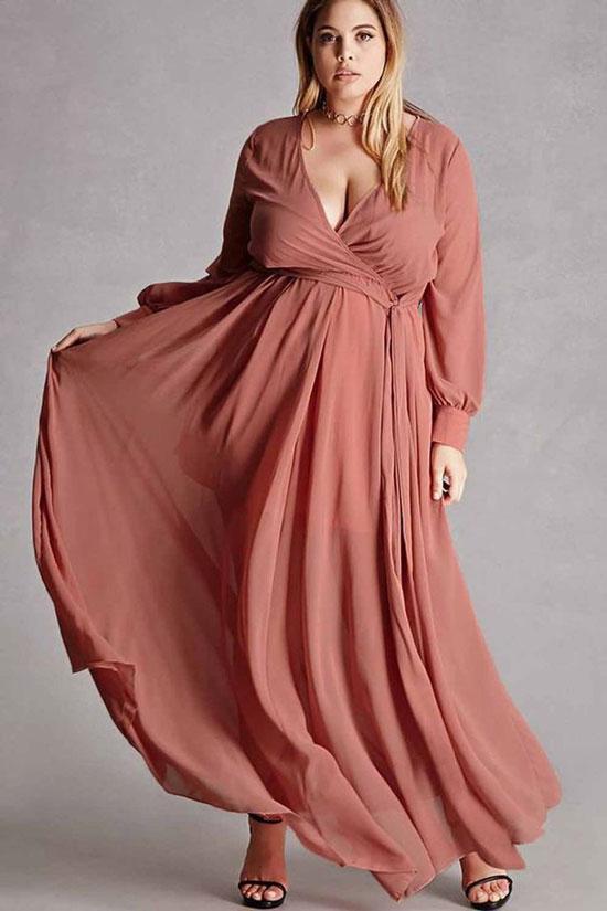 Вечерние платья для полных женщин 2020