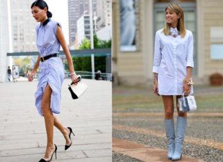 Платье-рубашка: как стильно носить и выглядеть модно