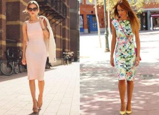 Платье футляр - кому подходит, как составить стильный образ. Фото