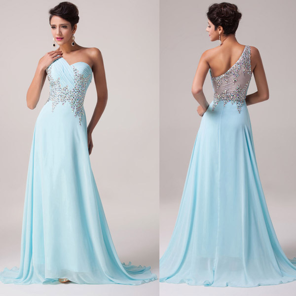 Платье нежно-бирюзового цвета
