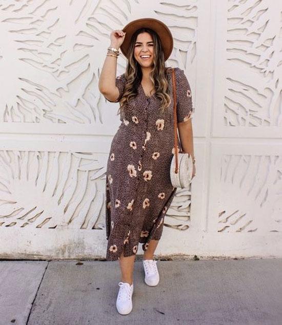 Простые и модные летние платья для полных женщин 2020