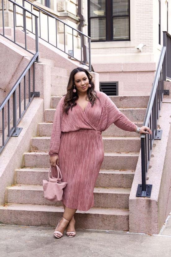 Нарядные и стильные летние платья для полных женщин