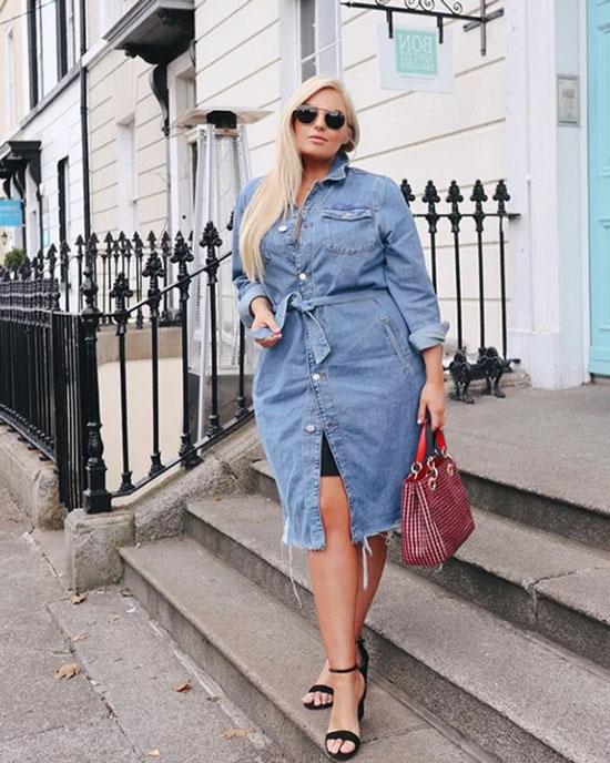 Стильные и модные летние платья для полных женщин 2020
