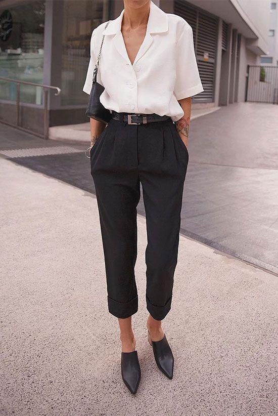 Модные черные брюки 2020