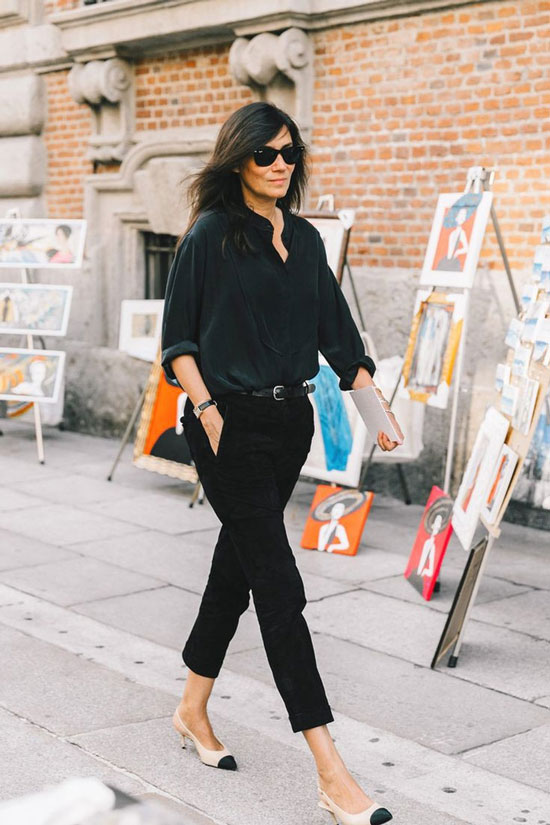 Модные черные брюки для женщин