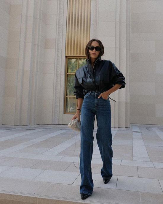 Какие джинсы носить высоким девушкам
