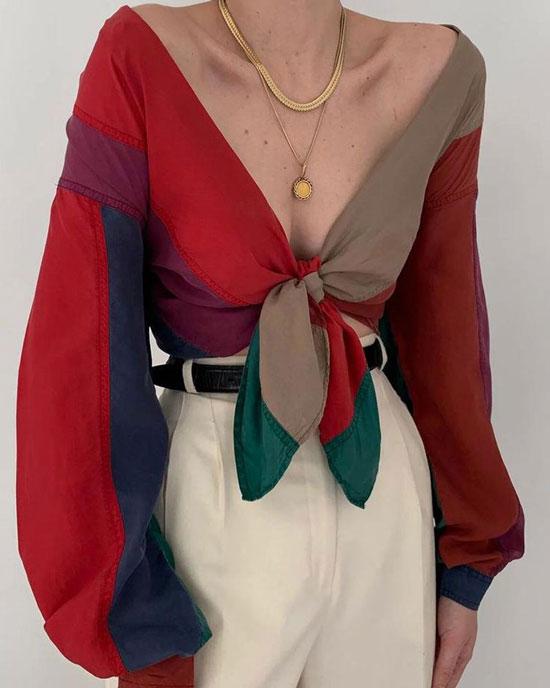 Необычные женские блузки
