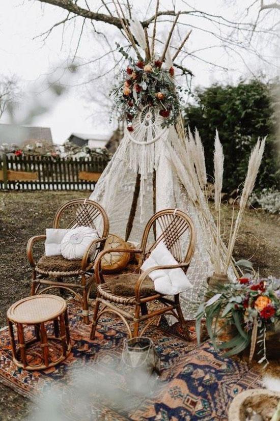 Декорации для свадьбы в стиле бохо