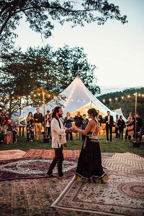 Интерьер свадьбы в стиле бохо-шик