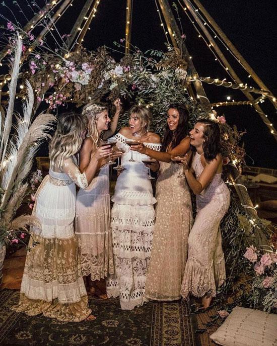 Образы для свадьбы в стиле бохо-шик