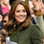 Кейт Миддлтон - в зеленом пальто
