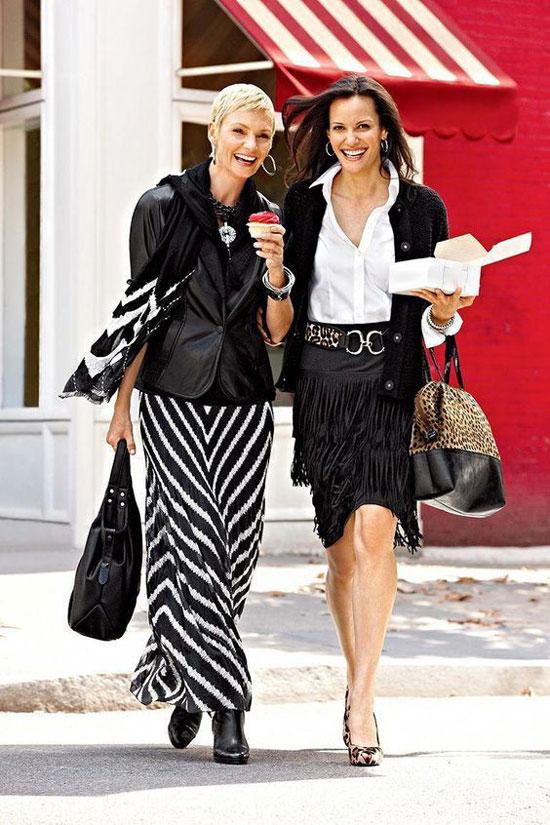 Длинные юбки в пол для 50-летних женщин