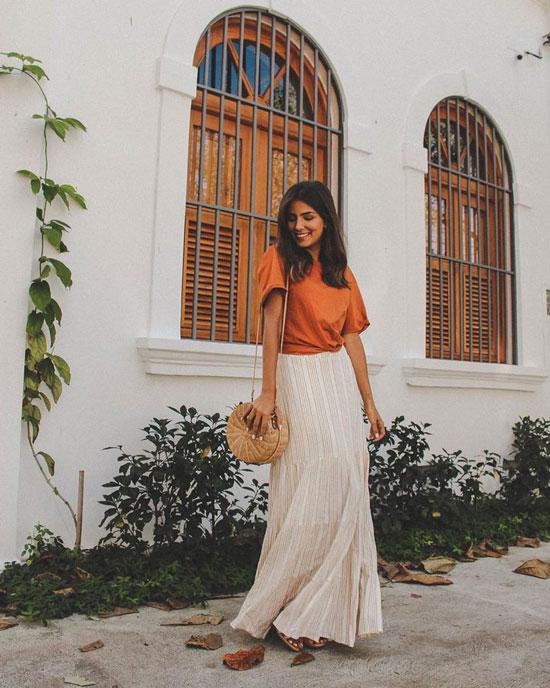 С чем носить длинную юбку летом 2020