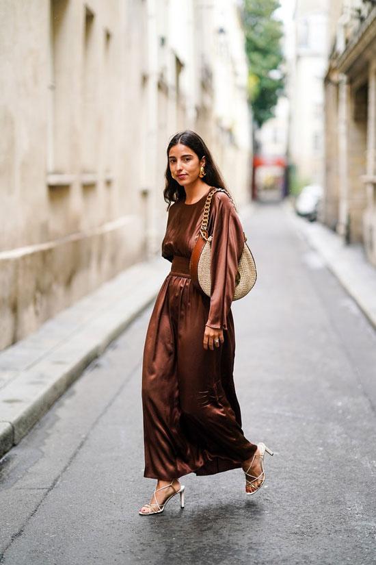 Сатиновое платье на лето 2020