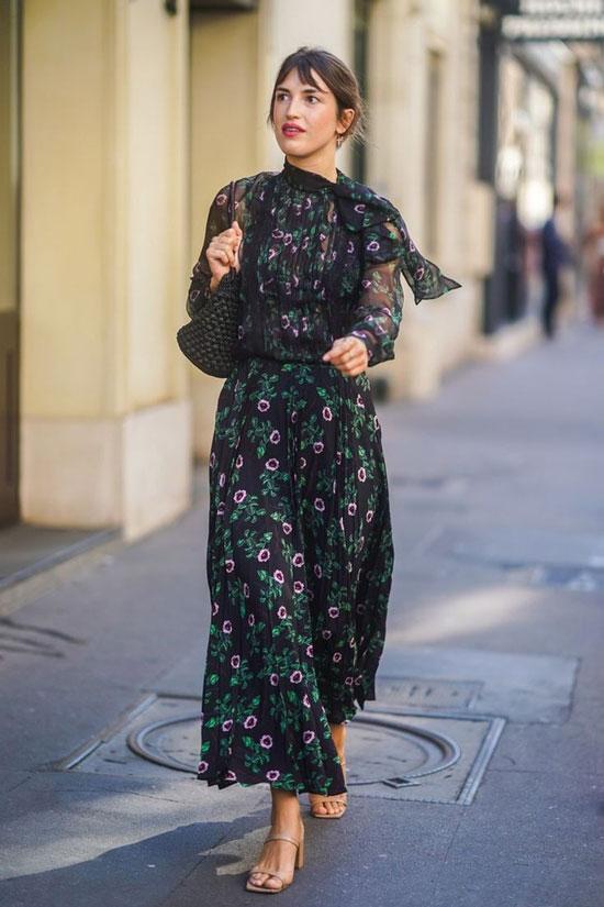 Макси-платье в цветочек на лето 2020