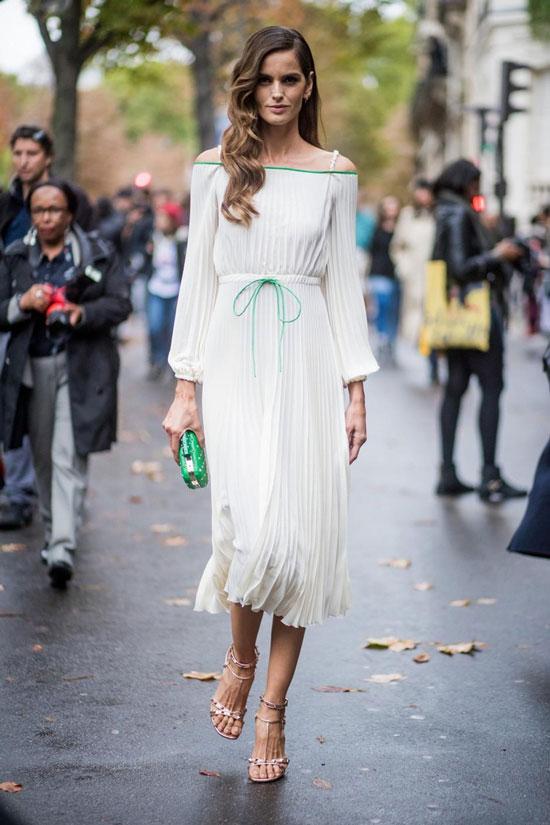 Приталенное плиссированное платье для женщин на лето 2020