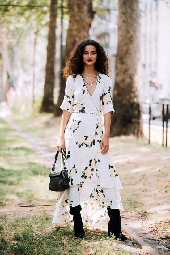Платье на запах для женщин на лето 2020