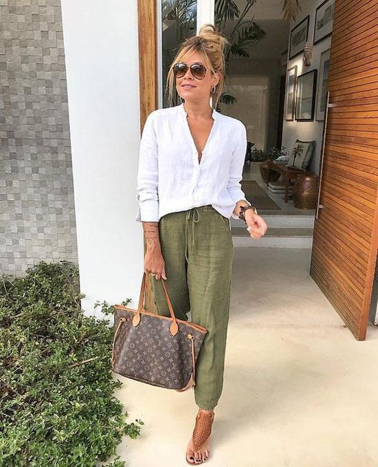 Какие брюки носить летом женщинам после 50