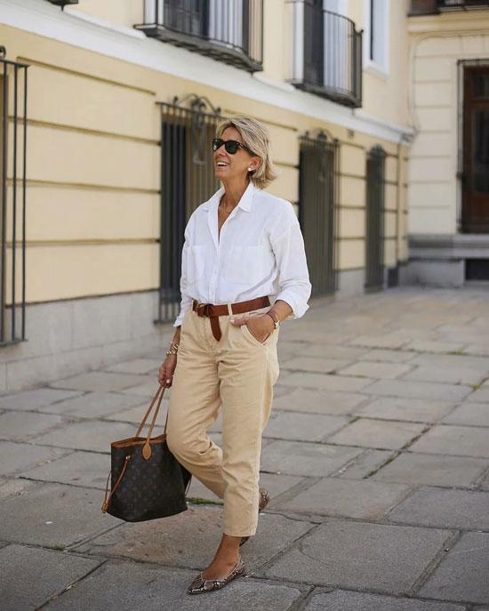 Образы с летними брюками для женщин после 50