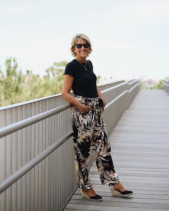 Брюки на лето для женщин 50 лет