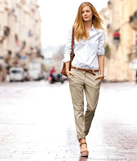 Модные брюки чинос для женщин на лето 2020