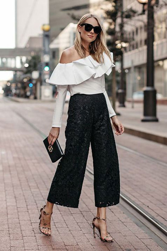 Кружевные брюки для женщин на лето 2020