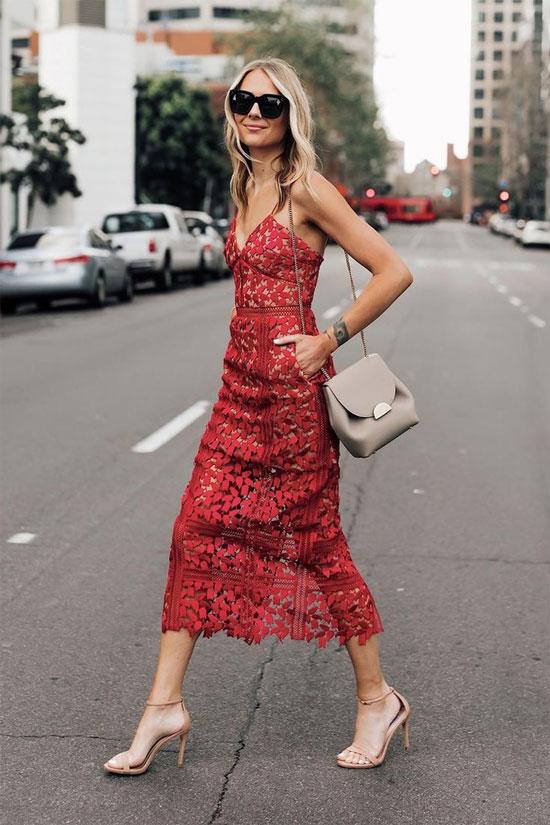 Модные кружевные платья на лето 2020