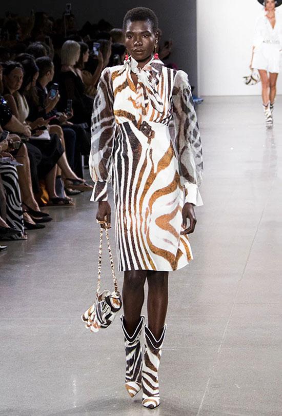 Анималистичный принт зебра на лето 2020