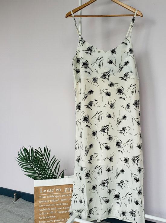 Платье-комбинация с принтом на лето 2020 на АлиЭкспресс