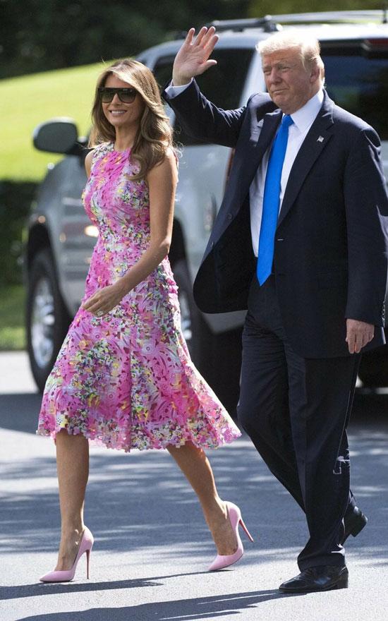 6 лучших летних платьев Мелании Трамп