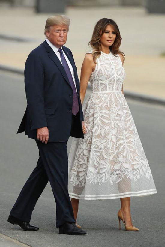 Лучшие летние платья Мелании Трамп