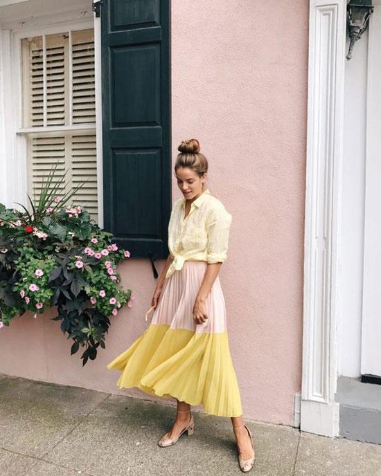 Как носить юбку-плиссе летом 2020