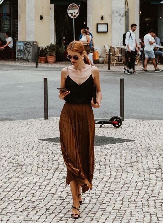 Плиссированная юбка для женщин на лето 2020