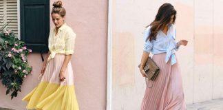 Как носить юбку-плиссе прямо сейчас: 13 свежих стильных идей для тебя