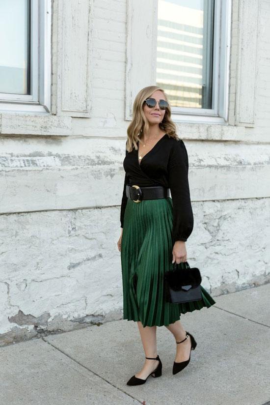 Как носить плиссированную юбку летом 2020