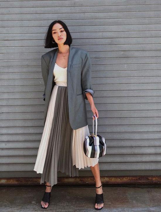 С чем носить юбку-плиссе летом 2020